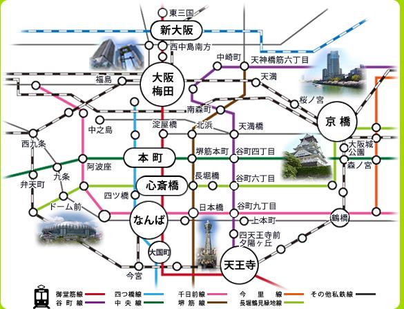 大阪エリア エステム マンスリーマンション